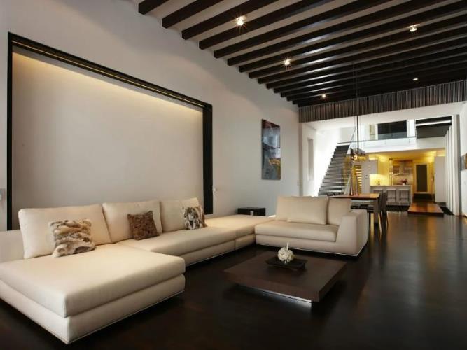 2 вариант интерьера: Пол и потолок – темные, стены – светлые